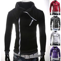Korean Hot Mens Fashion Stylish Slim Fit Casual Warm Pullover Coat Jackets Tops | eBay