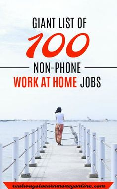 Looking for a non-phone work at home job? Here's a massive list of 100 of them.