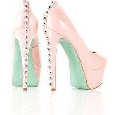 **CJG Stud Back Peeptoe Court Shoes by CJG ($150) ❤ liked on Polyvore