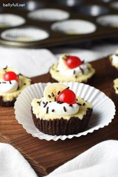Banana Split Mini Cheesecakes
