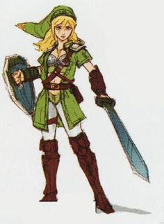 """Hyrule Warriors - """"Linkle"""" Designs"""