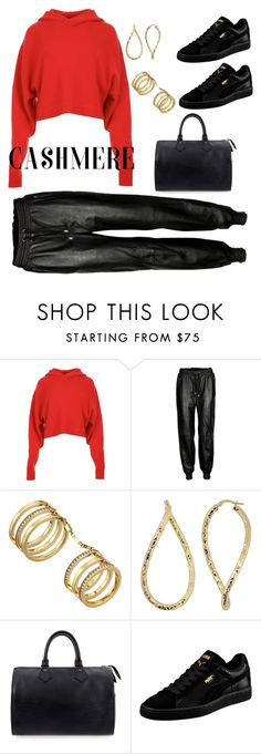 """""""Sporty Cashmere"""" by simplylsw ❤ liked on Polyvore featuring TIBI, VIPARO, Michael Kors, Fremada, Louis Vuitton, Puma, sporty and cashmere"""