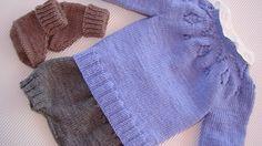tutorial puntomoderno.com, jersey de bebé tejido a dos agujas, knit baby sweater also english pattern, #diy #bebé