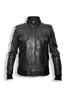 Not totally into black leather jackets, but this jacket is hot.