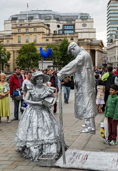 Street Performers, Trafalgar Square, London