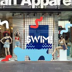 Summer swimwear windows at our Oxford St. store!