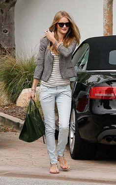 la modella mafia Model Of Duty Rosie Huntington Whiteley carrying a green suede Celine Phantom bag 2