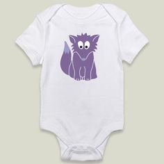 Fun Indie Art from BoomBoomPrints.com! https://www.boomboomprints.com/Product/calicoelephant/Purple_Fox/Onesies/0-3M_Cloud_White/