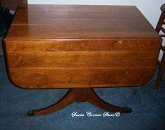 Antique Duncan Phyfe Mahogany Drop Leaf Table