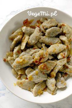 Kluski z ziemniaków Green Beans, Cereal, Vegan, Dinner, Vegetables, Breakfast, Food, Morning Coffee, Food Dinners