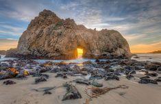 Pfeiffer Beach Portal to the Sun - Big Sur, CA