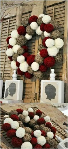20 DIY Christmas Door Decorations To Make Your Home Blissfully Welcoming - It's that time of year when you get ready to dress up your home indoors and out. If you're looking for ways to make your fron Diy Christmas Door Decorations, Diy Christmas Garland, Christmas Door Wreaths, Christmas Tree Themes, Christmas Tree Toppers, Christmas Crafts, Holiday Decor, Diy Girlande, Business Christmas Cards