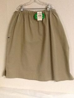 Girl Scouts Skirt Khaki Size 22 Plus Cadette Senior New! Den Mother #GirlScouts #Skirt