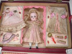 French Mignonette Doll and Wardrobe ~