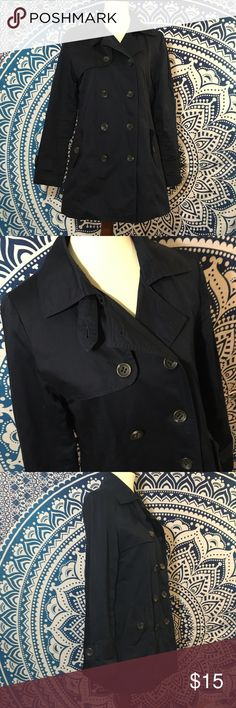 Forever 21 Large Navy Button Up Jacket Size Large In great condition  Sleek lining Forever 21 Jackets & Coats