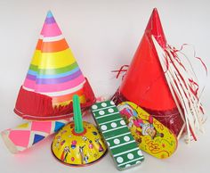 Vintage New Years Decoration Lot 6 Party Items Hats by teresatudor, $12.99