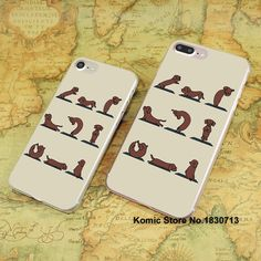 Dachshund yoga quit design hard transparent clear Cover Case for Apple iPhone 7 6 6s Plus SE 4s 5s 5c