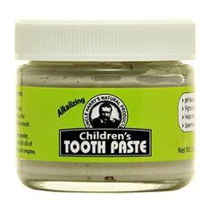 Uncle Harrys Fluoride Free Childrens Toothpaste Mild Spearmint 3 oz glass jar * More info could be found at the image url.