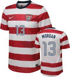 Alex Morgan #13 Home Nike Soccer Jersey: United States Soccer Home Nike Replica Jersey