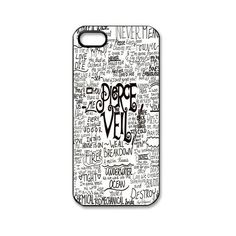 Apple iPhone 5 Black/White Case Pierce The Veil iPhone 5 Snap On... (9.49 CAD) ❤ liked on Polyvore
