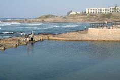 The tidal pool at Uvongo. Very well used in season. Lovely and close to the beach. Kwazulu Natal, South Africa, Beaches, Coast, Southern, African, Urban, Landscape, Water