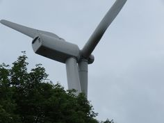 A wind turbine located in the mountains of my town in Japan