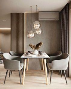 Kitchen Room Design, Home Room Design, Modern Kitchen Design, Dining Room Design, Interior Design Living Room, Living Room Decor, House Design, Flat Interior Design, Luxury Dining Room