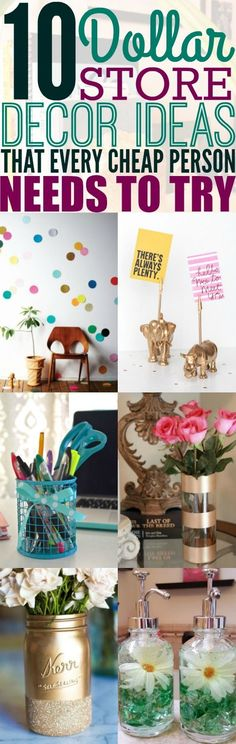Decorating my home while on a budget has never been easier thanks to these 10 dollar store decor ideas. I'm so happy I found these DIY and cheap ways to give my home a new look. You have to see them! Pinning for later!