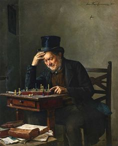 """""""the chess player"""" by Isidor Kaufmann"""