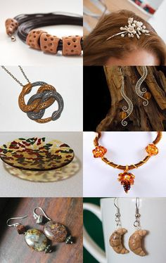 My earrings are featured in this lovely treasury: Autumn mood  by Elena Kuzina on Etsy--Pinned with TreasuryPin.com