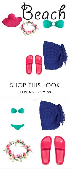 """""""go to the beach"""" by li-directioner ❤ liked on Polyvore featuring Melissa Odabash and Melissa"""