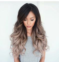 New hair goals brunette balayage Ideas Ombré Hair, Bad Hair, Hair Dos, Curls Hair, Waves Curls, Frizzy Hair, Trendy Hairstyles, Hairstyles For Oblong Faces, Summer Hairstyles