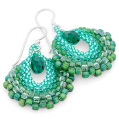 Mint Earrings | Fusion Beads Inspiration Gallery - FREE PATTERN