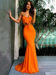 Buy Orange Sweetheart Two Pieces Mermaid Sexy Long Bridesmaid Dresses,Prom Dresses uk one of the season's hottest looks in a burgundy homecoming dress or choose a timeless classic little black dress. Orange Prom Dresses, Long Bridesmaid Dresses, Orange Dress, Sexy Dresses, Sexy Maxi Dress, Fashion Dresses, Orange Bodycon Dress, Bodycon Prom Dresses, Sexy Long Dress
