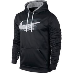 ad9ec2c0122196 New Nike Mens Black KO Swoosh Applique Logo Pullover Sweatshir Hoodie Size  XL  Nike  Hoodie