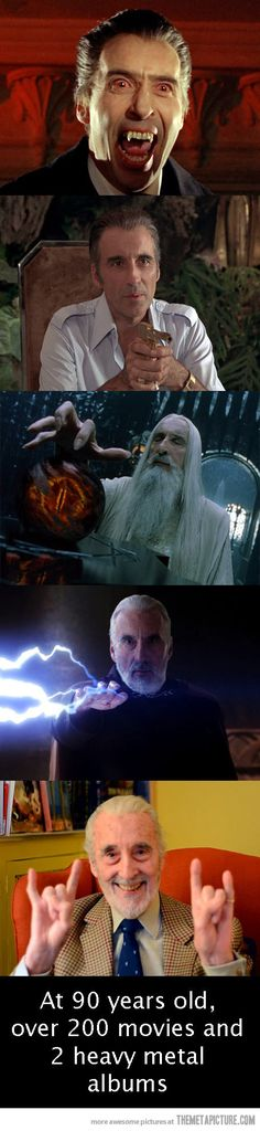 Sir Christopher Lee rocks…