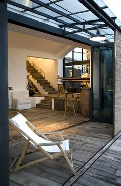 My kind of place.especially in Espana, Barcelona - Méchant Design: open space in Barcelona Architecture Details, Interior Architecture, Exterior Design, Interior And Exterior, Country Interior Design, Modern Country, Country Living, Industrial House, House Rooms