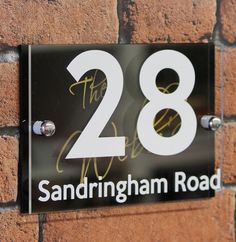 Oval natural slate number signs custom made in Canada Black or