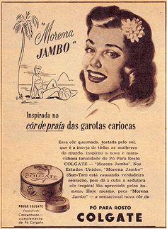 Colgate. Propaganda em anos 40. Brasil.