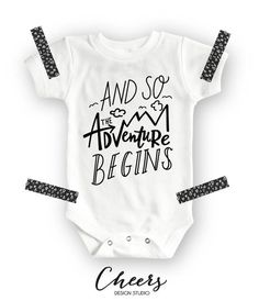 And So The Adventure Begins Onesie® - Baby Shower Gift - Baby Clothes - Cute Onesies - Funny Baby Clothes - Adventure Onesie - Hipster Baby