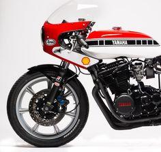 Yamaha cafe Yamaha 125, Yamaha Bikes, Moto Cafe, Trial Bike, Speed Racer, Cafe Style, Sportbikes, Best Vibrators, Bike Stuff