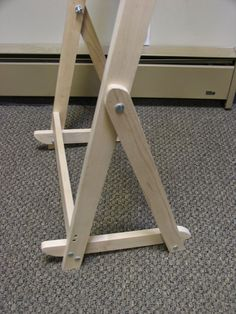 Easel Stand For Adjustable Twining Loom Or Art In Solid