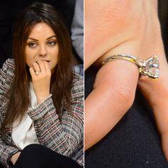 Pin for Later: Die schönsten Eheringe der Stars Mila Kunis Mila Kunis verlobte sich im Februar 2014 mit Ashton Kutcher.