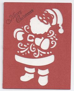 """Christmas card made with the Cricut cartridge """"A Quilted Christmas"""""""