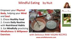 Mindful Eating by Nuit Quote about #healthyfood #bodymindsoul