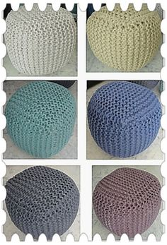 Knitted Pouf make your decor special on this Diwali