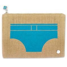 Swim trunks pouch via jonathan adler
