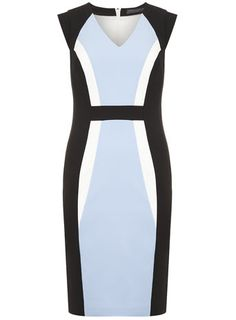 Tall Colour Block Pencil Dress