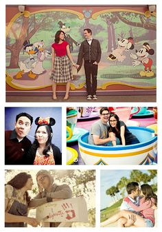 Engagement photography gallery with more than 100 Disney photo sessions