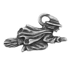 14x23mm Ant Silver Pltd Pewter Witch Charm | Fusion Beads